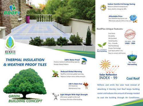 Roofplus Cool Roof Tiles At Rs 55 Square Feet K R Puram Bengaluru Id 10865132062
