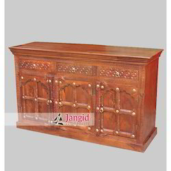Indian Wooden Living Room Sideboard