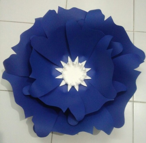 Blue color paper flower kagaz ke phool harivrund paper craft blue color paper flower mightylinksfo
