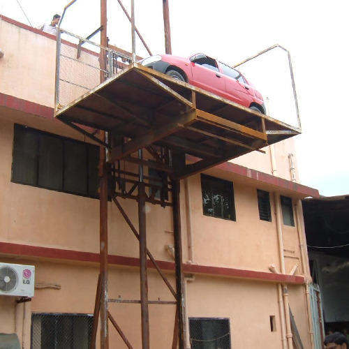 Car Parking Solutions Single Scissor Car Lift Manufacturer From Mumbai