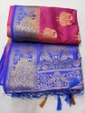Festive Wear Soft Silk Saree, With Out Blouse Piece