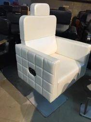 Modern White Half Cut Sofa Chair, For Home, Back Style: High Back