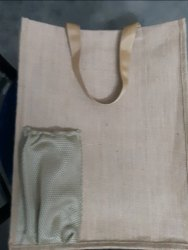 Jute Carry Bag with Pocket