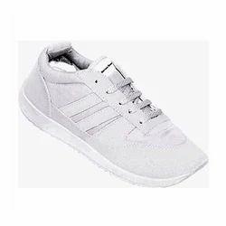 White Jogging Shoe School Shoe, For Sports, Model Name/Number: KF-17