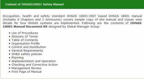 Ohsas 18001 manual free download pdf the corner.