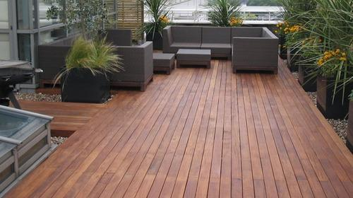 Brown And Coffee Wooden Deck Flooring Sundek Interio