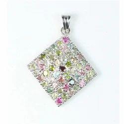 Multicolor Gemstone Pendant