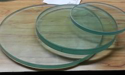 Transparent Toughened Glass Circle
