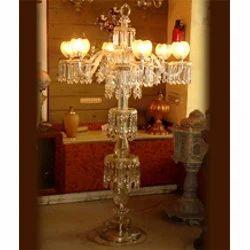 Glass Pedestal Lamp