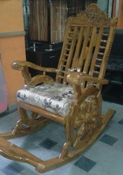 Natural Teack .volnite.roswood Rocking Chair