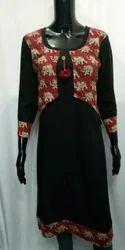 Rayon Jackets Designer Kurtis