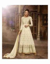 Beige Fancy Designer Anarakali Suit