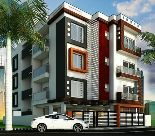 3d Front Elevation Design 3d Building Elevation: Building 3D Elevation In Magadi Road, Bengaluru