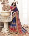 Blue & Multicolor Saree