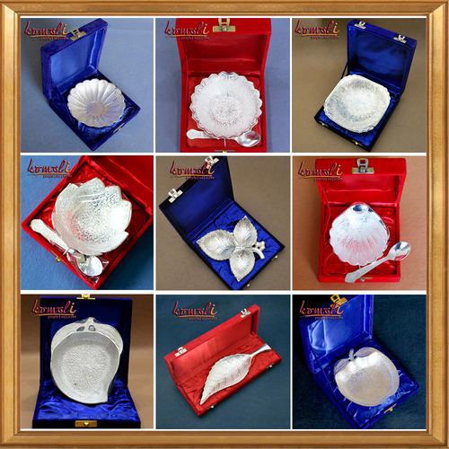 Brass Designer Products - Wedding Favors Diwali Gifts Silver
