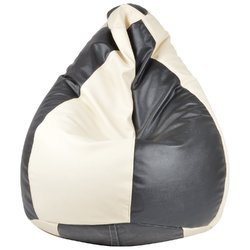 Galaxy Decorz Bean Bag Black and Ivory Classic Xxxl