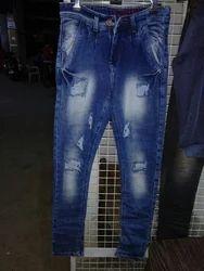 Men Rugged Casual Denim Jeans