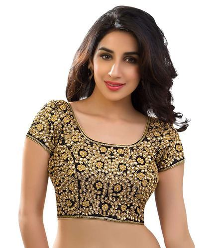 Stitched Embroidered Stone Work Party Wear Designer Blouse