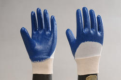 Half Deep Nitrile Coated Hand Gloves