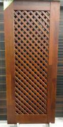 Solid Wood Safety Door