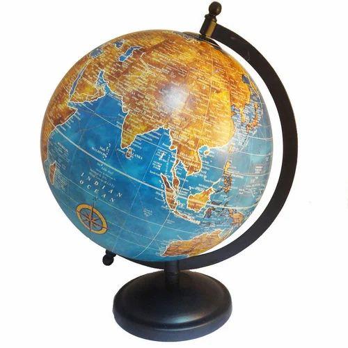 Medium rotating world map decorative plastic globe imli street medium rotating world map decorative plastic globe gumiabroncs Image collections