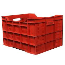 Rectangular Plastic Vegetable Crates