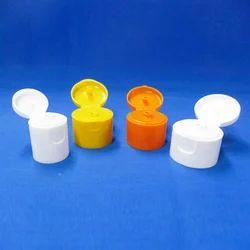 Plastic White And Orange Flip Top Caps