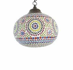 Glass Handmade Multi Colour Mosaic Gagan Hanging Lamp