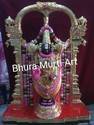 Tirupati Balaji Black Marble Statue