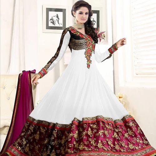 d11c11e65c19 Designer White Anarkali Suit at Rs 899  piece