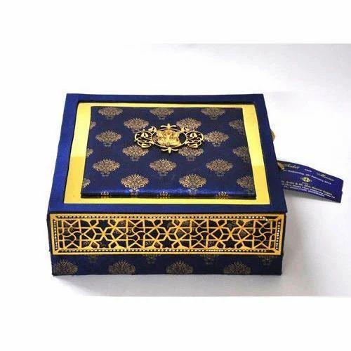 designer wedding card box at rs 700piece  wedding favor