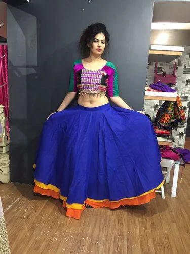 f2cff7b8538afa Kutch Work Handmade Gujarati Lehenga at Rs 1200 /piece | Bodakdev ...