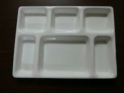 Acrylic Six Compartment Plate