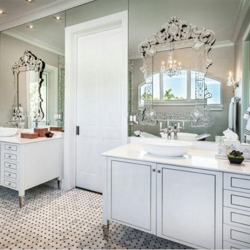 Venetian Mirror For Bathroom Shape