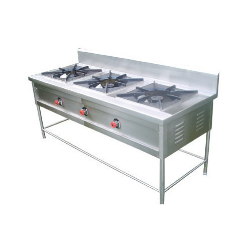 Stainless Steel 3 Burner Stand