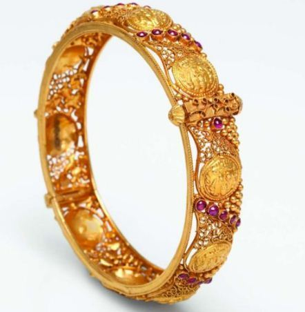 Antique Gold Bracelet Gold Gold Jewellery Bhima Jewellers In