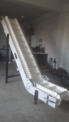 Inclined Side Wall Cleated Conveyor