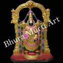 Printed Black Marble Tirupati Balaji Statue