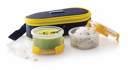 Flat Lunch Box With 2 Containers