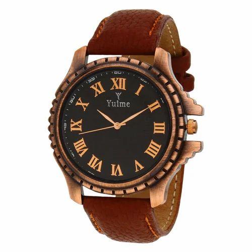 Yuime Antique Brown Roman Wrist Watch