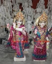 Radha Krishna Beautiful Marble Sculpture