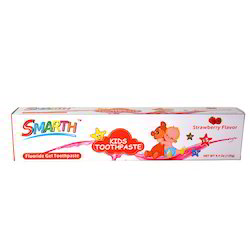 Smarth Kids Gel Strawberry Flavour Toothpaste 4.4 Oz -125g