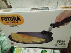 Futura Hard anodised and Nonstick Dosa Tava, Size: 28cm