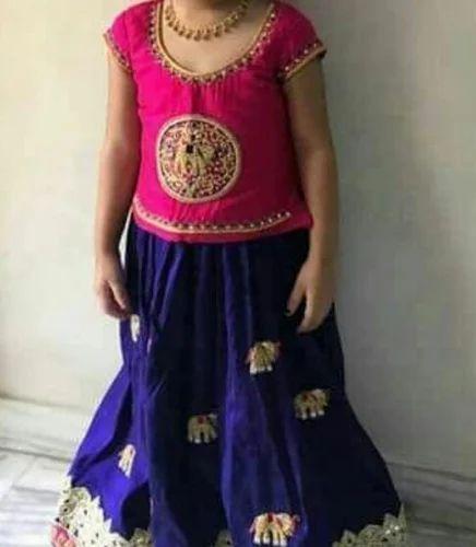 4ed889610 Designer Kids Pattu Pavadai at Rs 4000  piece