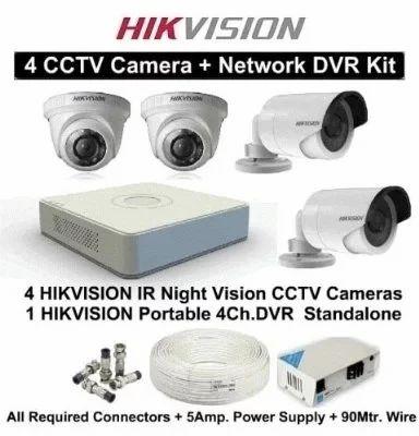 Cctv Camera 4 Ch Setup