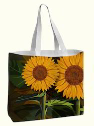 Sun Flower Digital Printed Cotton Bag
