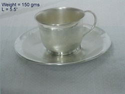 White Metal Cup Saucer