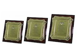 Gold And Silver Recognition Memento, Shape: Custom Shape