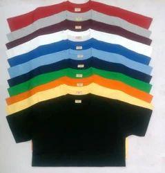 Mens Plain Round Neck T Shirt With Logo