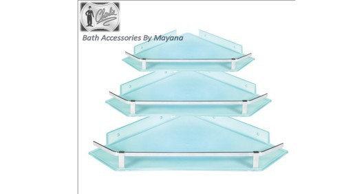 ABS Unbreakable Corner Bathroom Shelf / Corner Shelf set at Rs 1280 ...